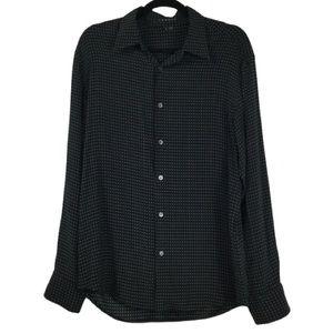 Theory 'Toby' Silk Printed Dress Shirt Black Multi